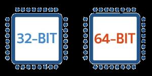 32 bit, 64 bit
